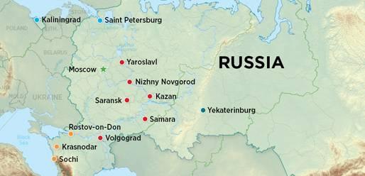 Amerika Gradovi Karta.Russia S 2018 World Cup Bid Looks Strong Siberian Light